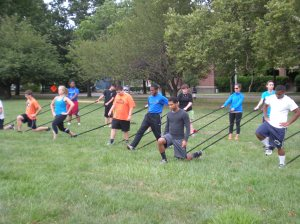 Students Run Philly Style lunges