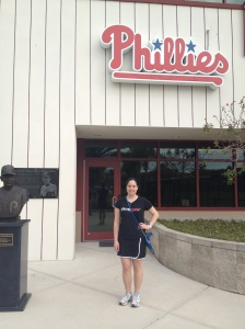 Kira in front of the Phillies' Complex