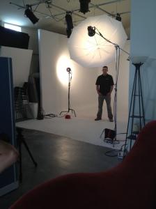 Matt poses during the Biz(941) photo shoot