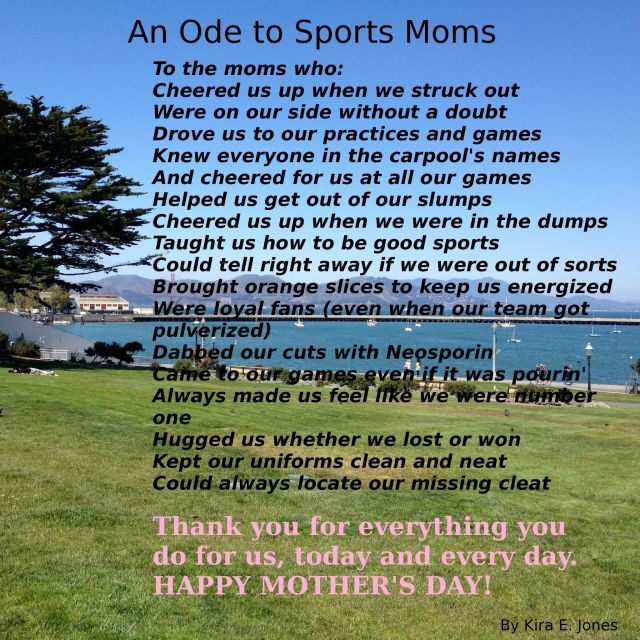 An Ode to Sports Moms